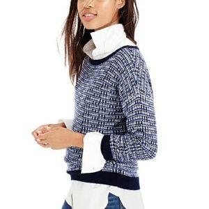 J. Crew Metallic Tweed Sweater Size XL